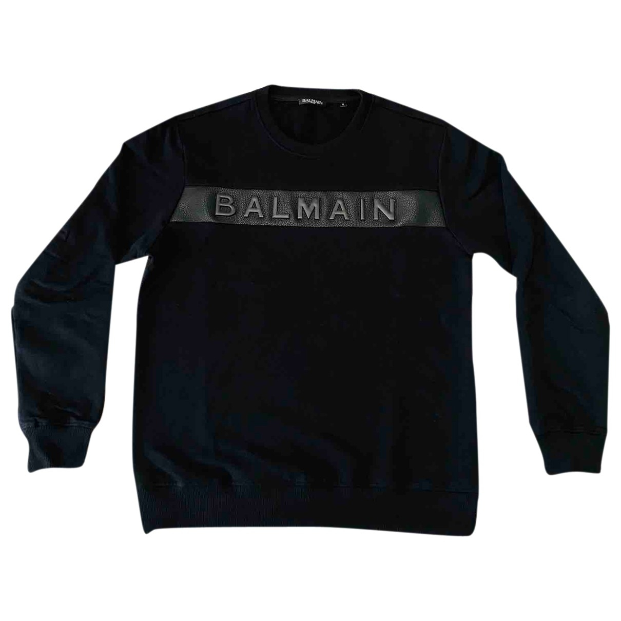 Balmain \N Black Cotton Knitwear & Sweatshirts for Men M International