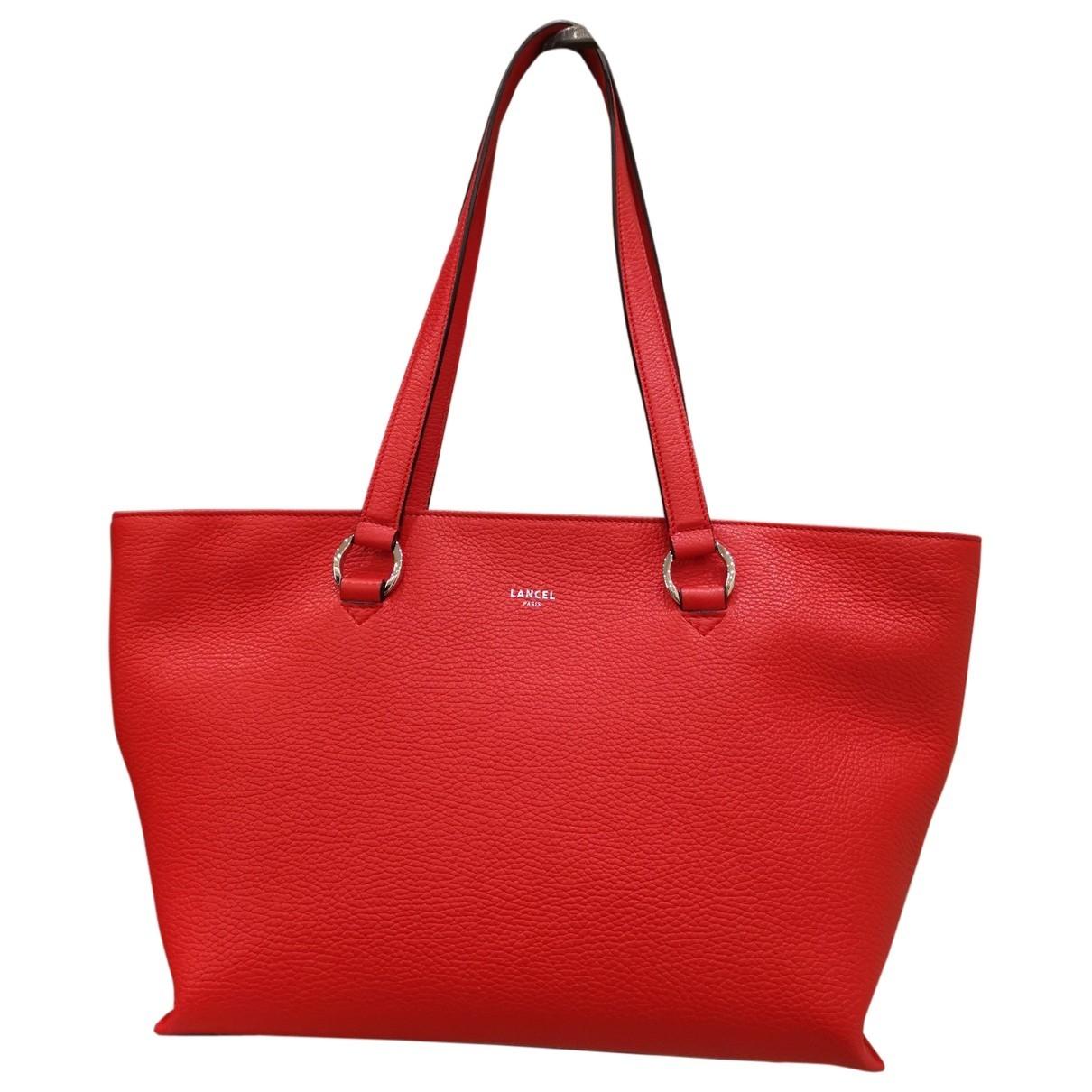 Lancel - Sac a main Enveloppe pour femme en cuir - rouge