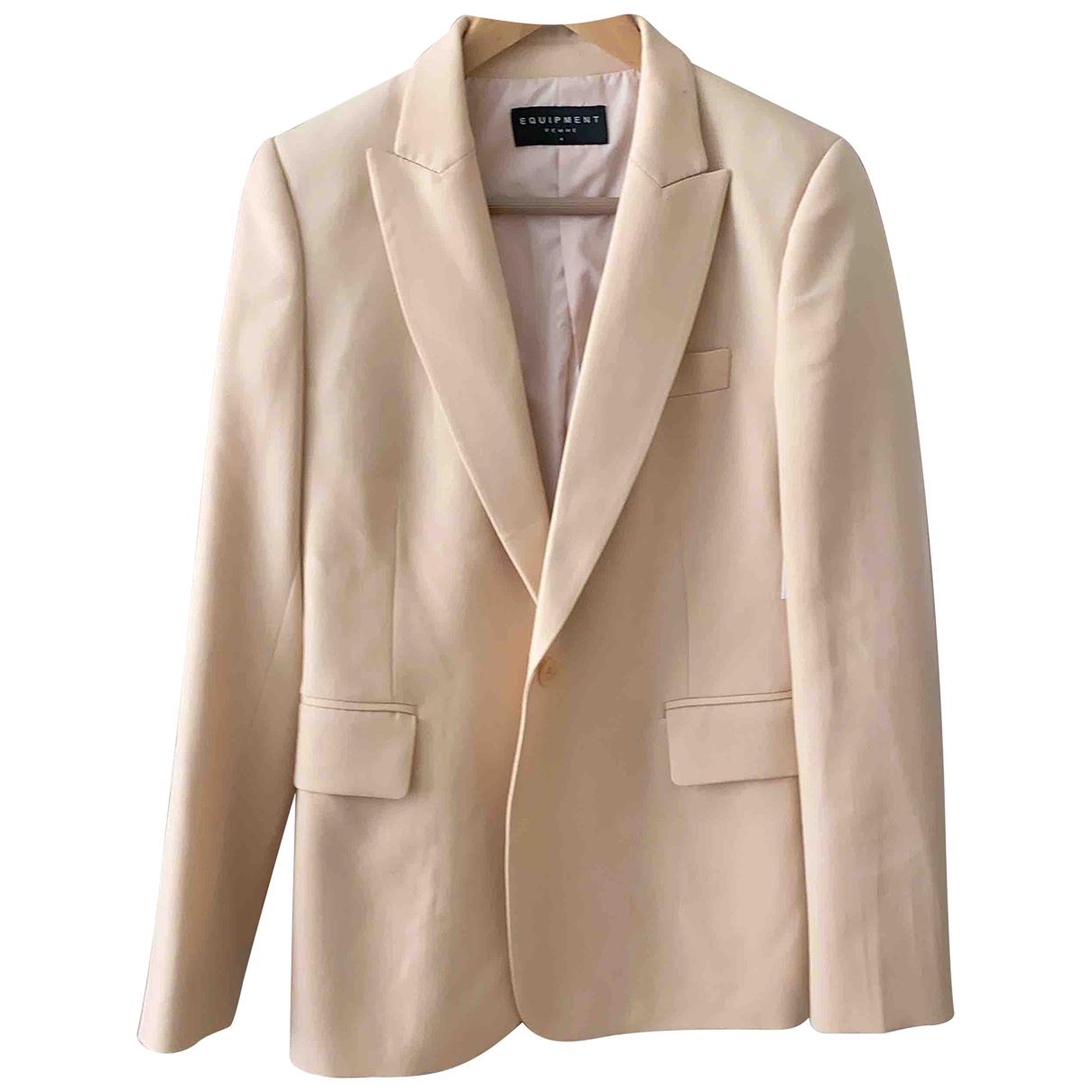 Equipment \N Beige Wool jacket for Women 36 FR