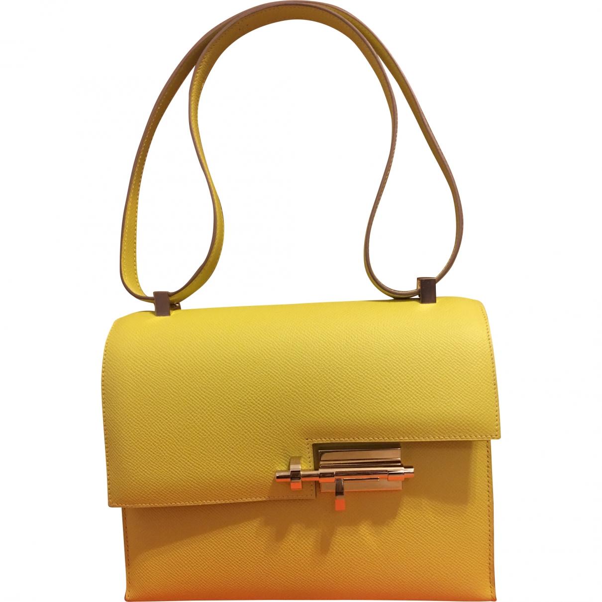 Hermès Verrou Yellow Leather handbag for Women \N