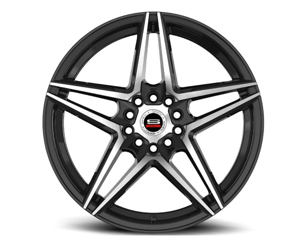 Spec-1 SP-54 Wheel Racing Series 18x8 5x112|5x114.3 38mm Gloss Black Machined