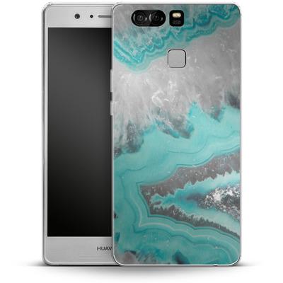 Huawei P9 Silikon Handyhuelle - Water Agate von Emanuela Carratoni