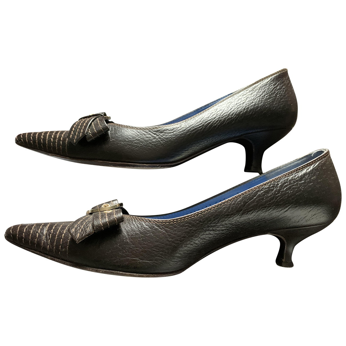 Salvatore Ferragamo N Brown Leather Heels for Women 38 EU