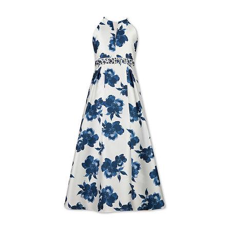 Speechless Big Girls Embellished Sleeveless Floral Maxi Dress, 8 , Multiple Colors