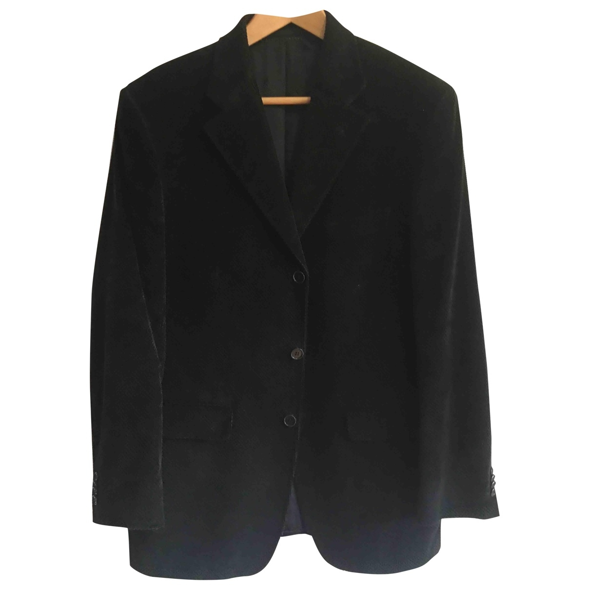 Pedro Del Hierro \N Black Cotton jacket  for Men 52 FR