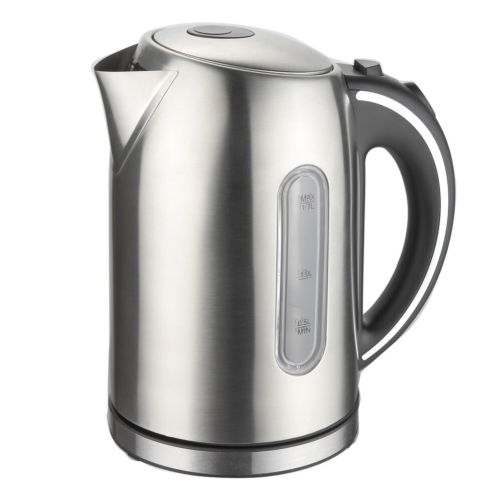 MegaChef 1.7Lt. Stainless Steel Kettle with Electric Heating Base (Silver)