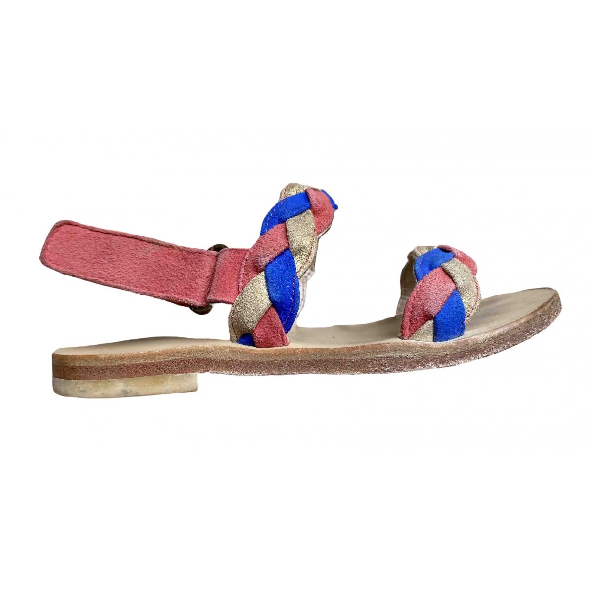 Bonpoint - Sandales   pour enfant en cuir - multicolore
