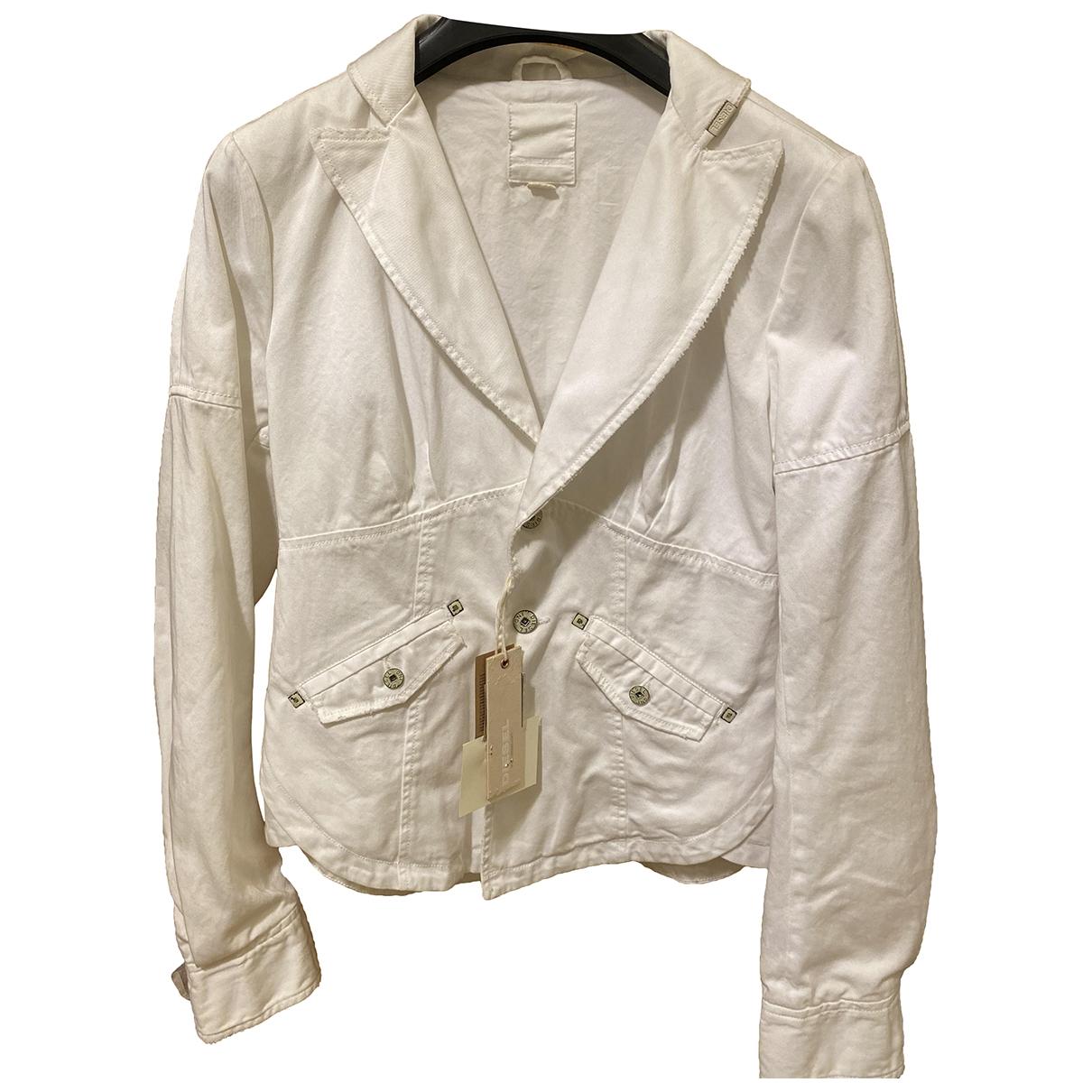 Diesel \N White Cotton jacket for Women XS International