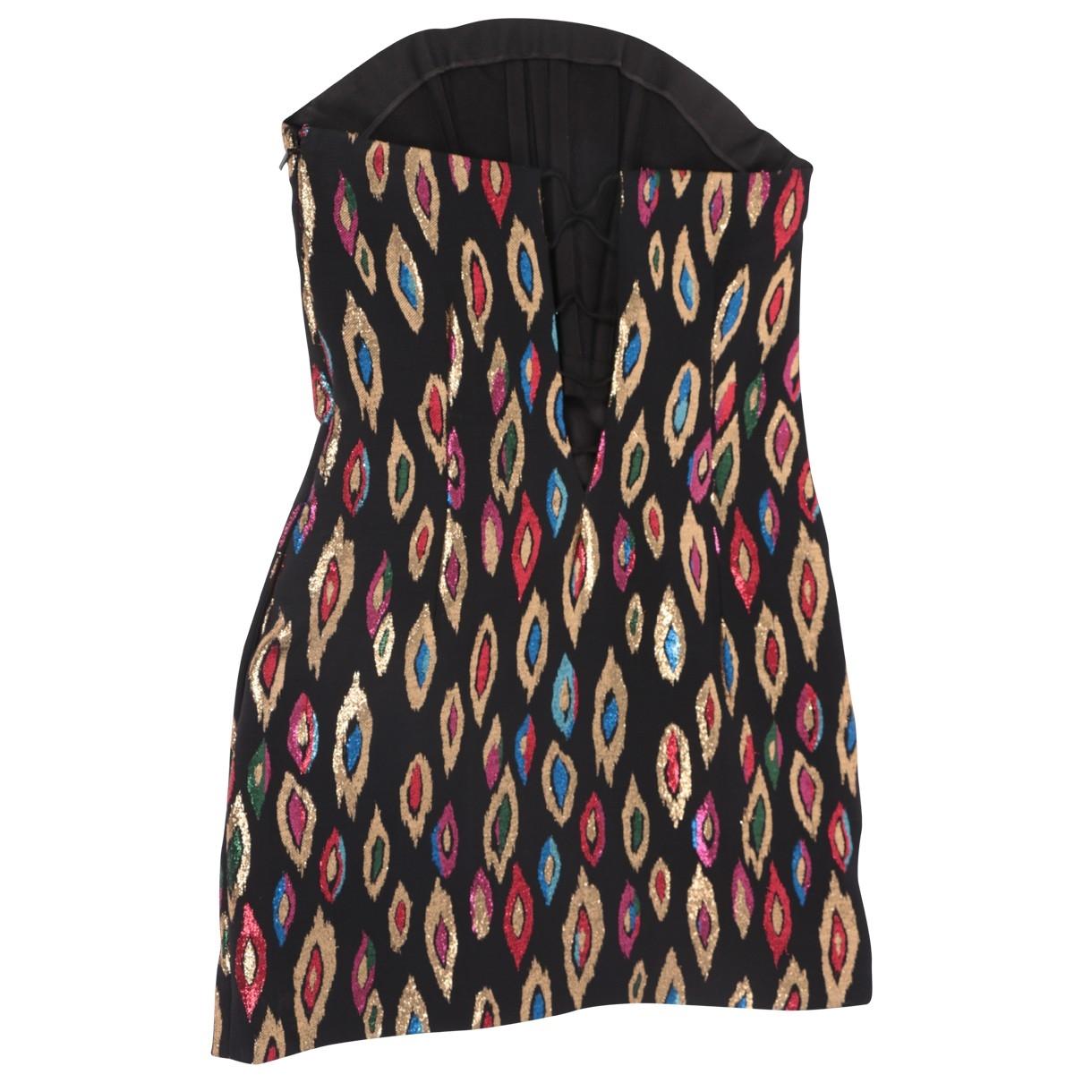 Saint Laurent \N Multicolour Silk dress for Women 36 FR