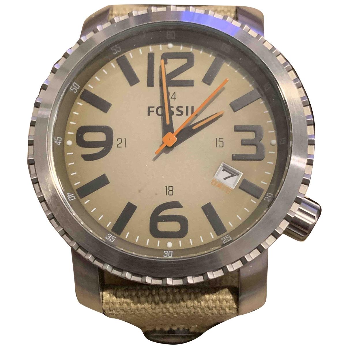 Fossil \N Uhr in  Khaki Stahl