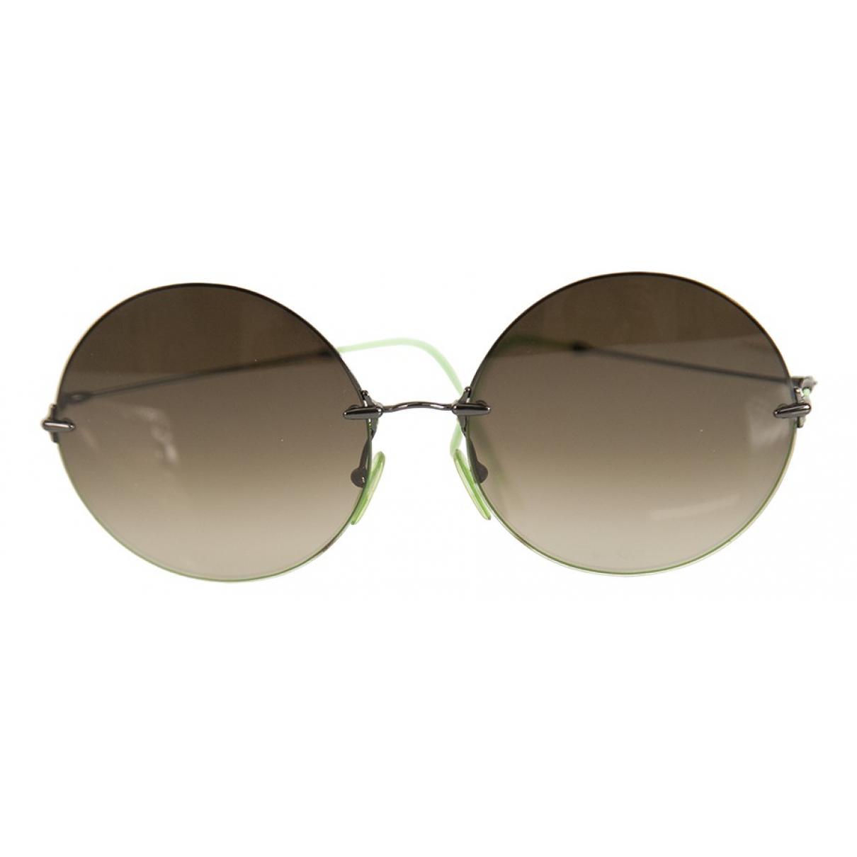 Christopher Kane N Green Metal Sunglasses for Women N