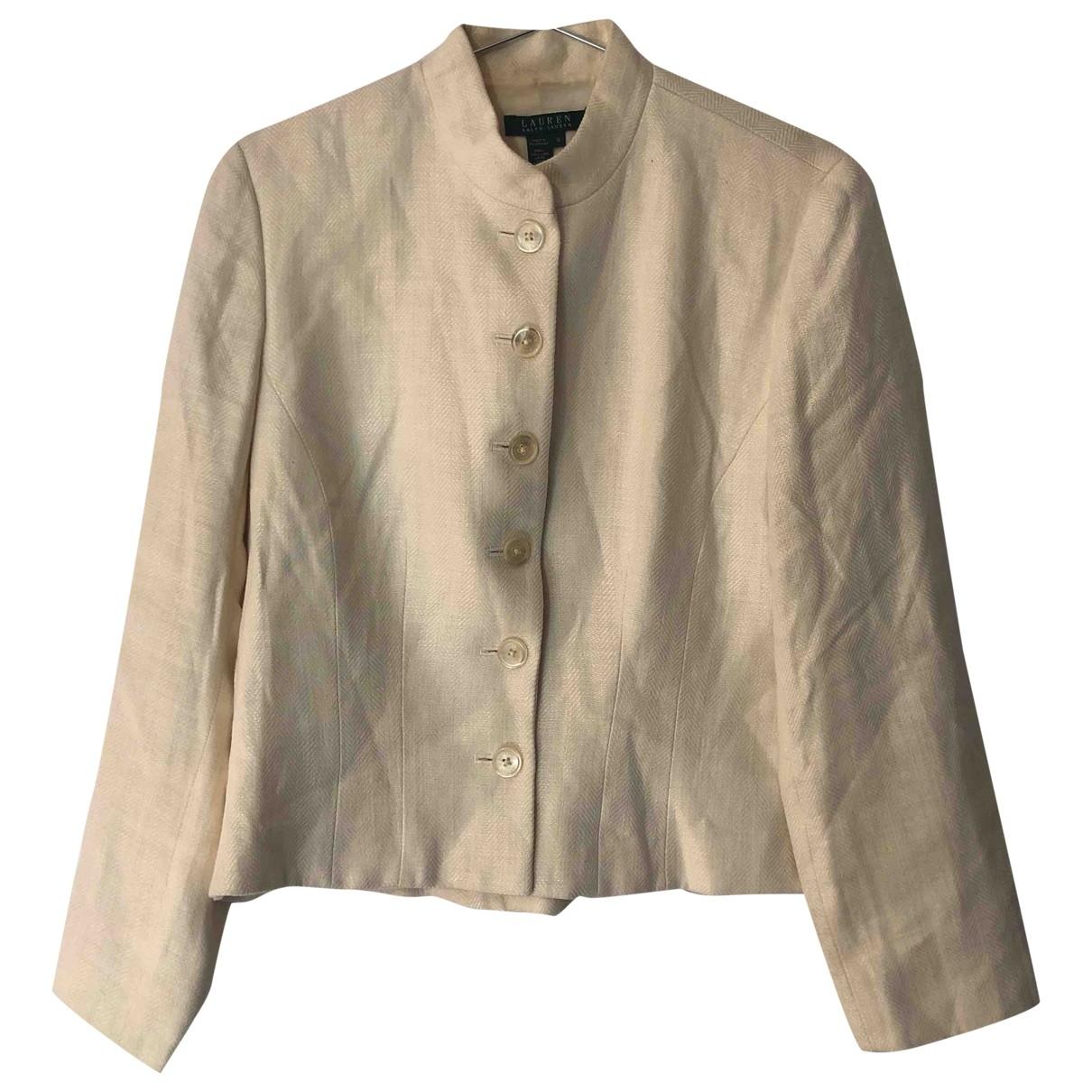 Lauren Ralph Lauren - Veste   pour femme en lin - blanc