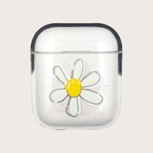 Flower Print Clear AirPods Case