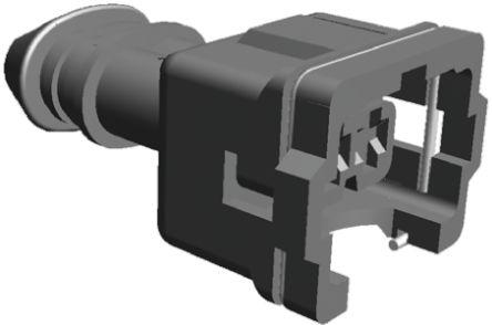 TE Connectivity , Junior Power Timer Automotive Connector Socket 1 Row 3 Way, Black
