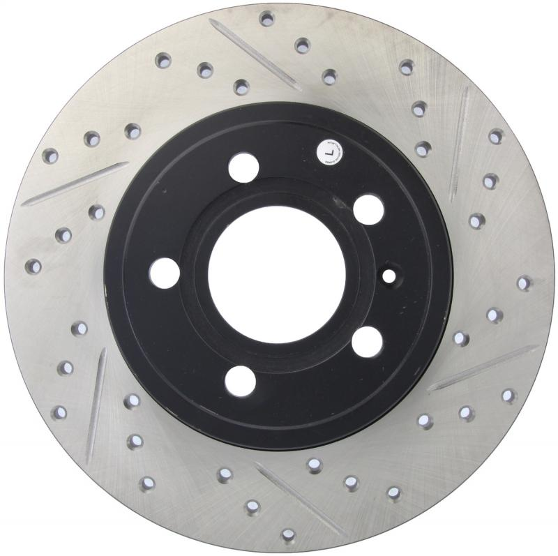 StopTech 127.33097L Sport Drilled/Slotted Brake Rotor; Rear Left Audi Rear Left