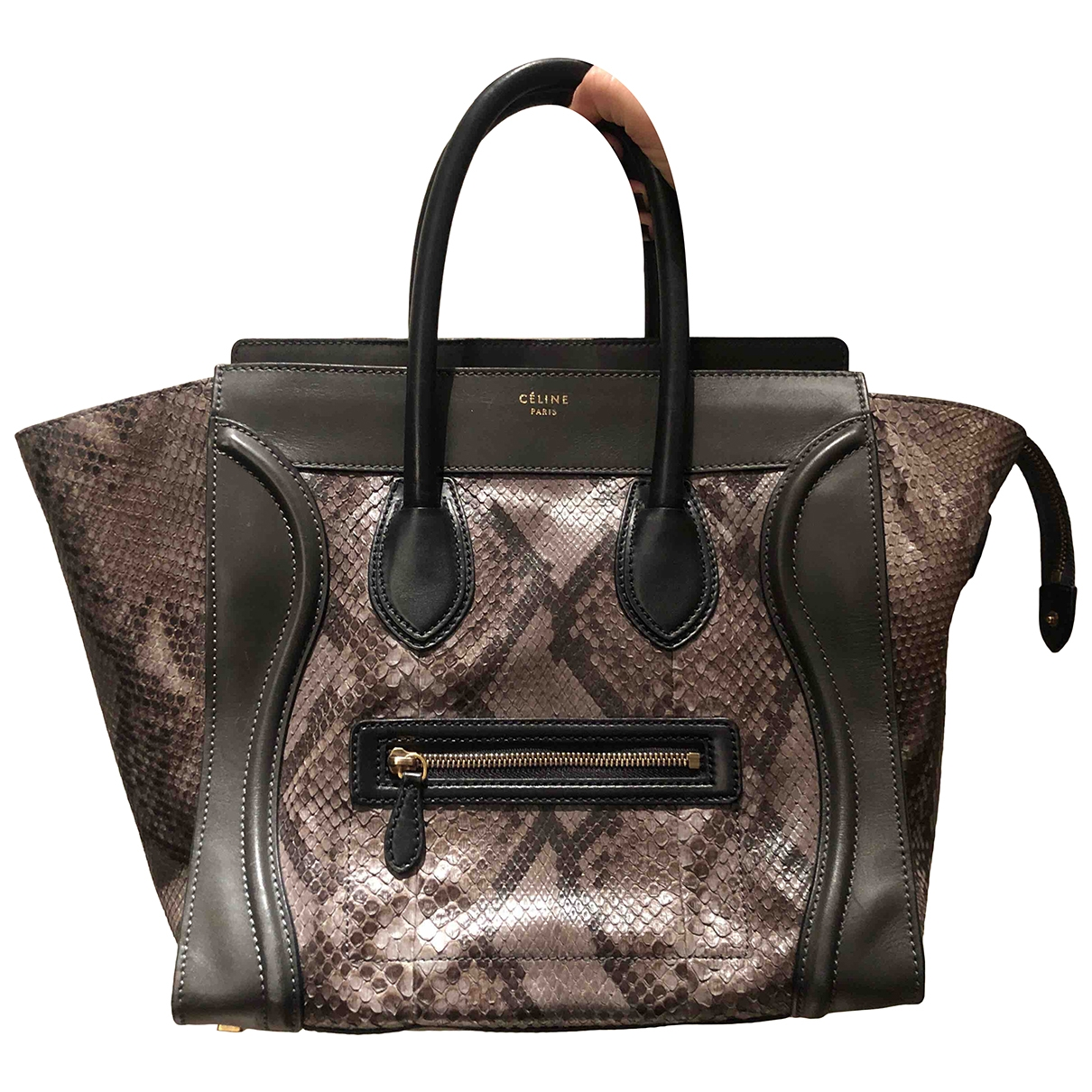 Celine Luggage Grey Python handbag for Women \N