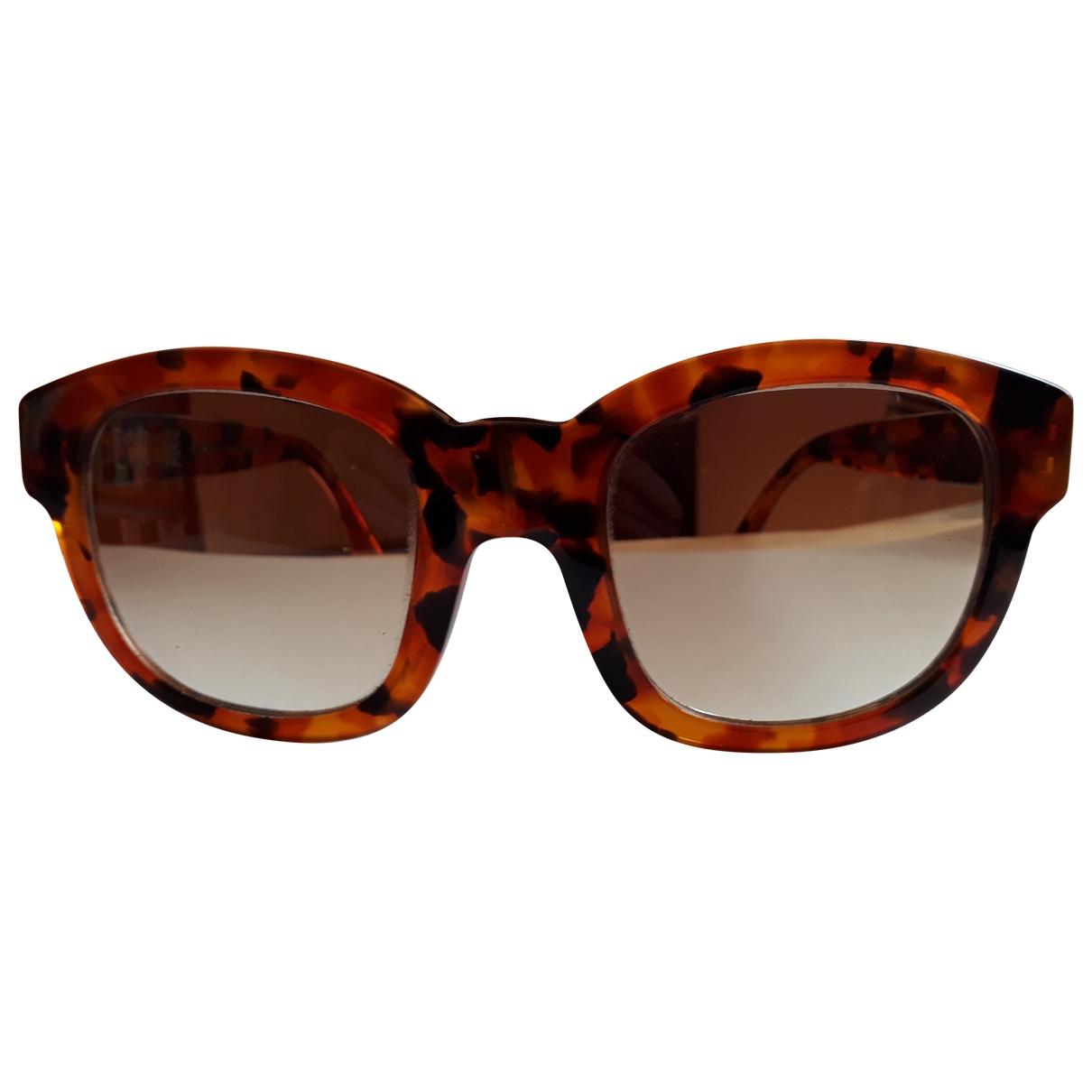Emmanuelle Khanh \N Sonnenbrillen in  Braun Kunststoff
