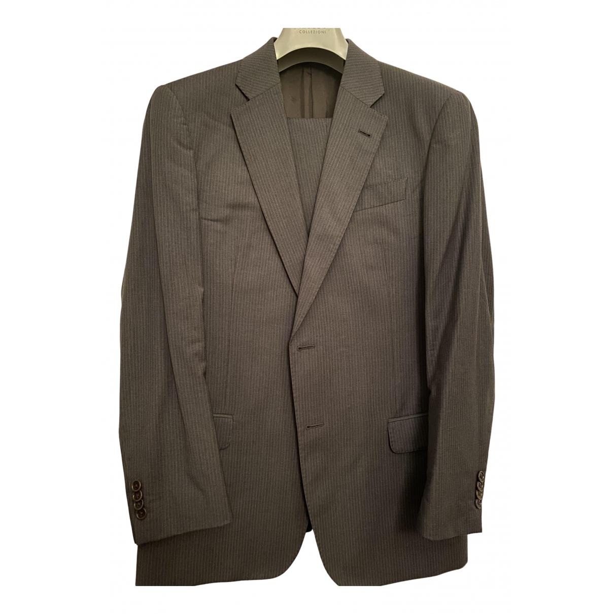 Armani Collezioni - Costumes   pour homme en laine - gris