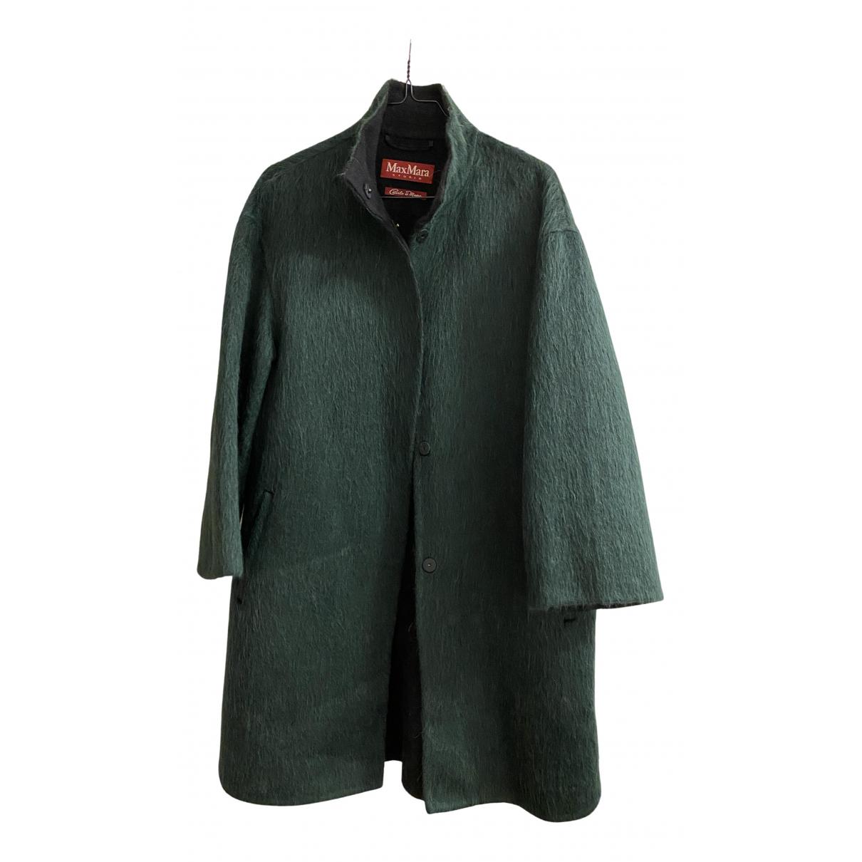 Max Mara Studio - Manteau   pour femme en laine - vert