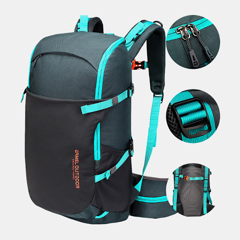 Men 30L Polyester Waterproof Light Weight Large Capacity Sport Hiking Travel Backpack