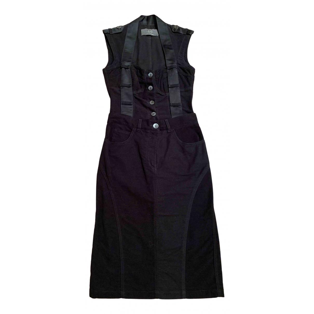 Alexander Mcqueen - Robe   pour femme en velours - noir