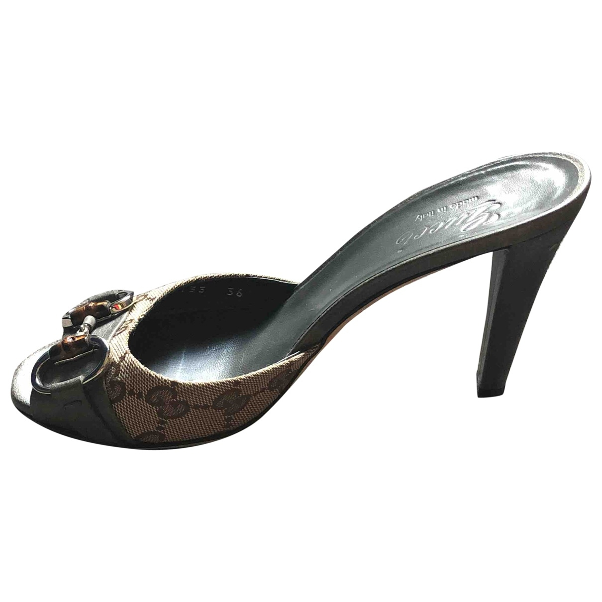 Gucci \N Grey Leather Sandals for Women 36 EU