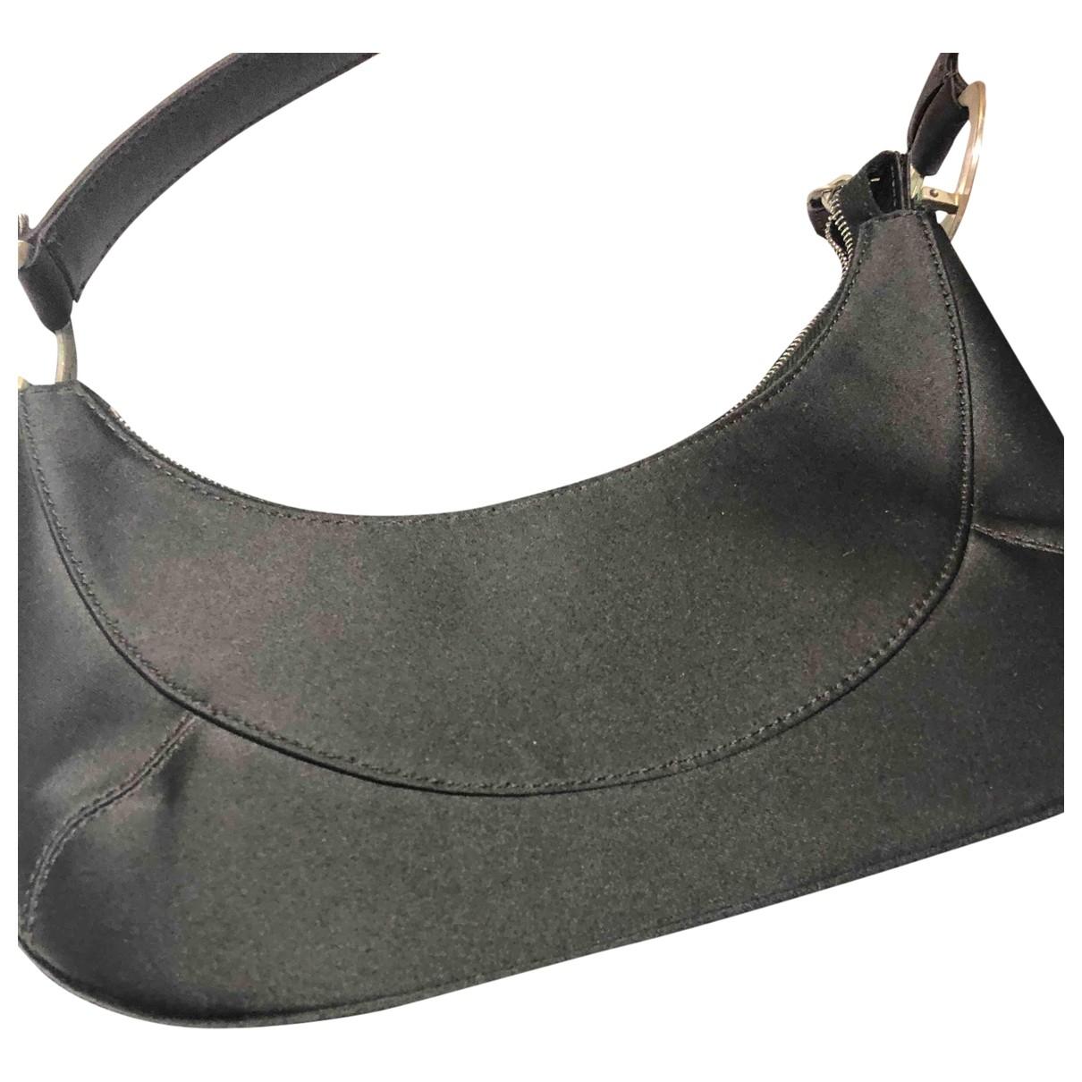 Gianni Versace \N Black Silk handbag for Women \N
