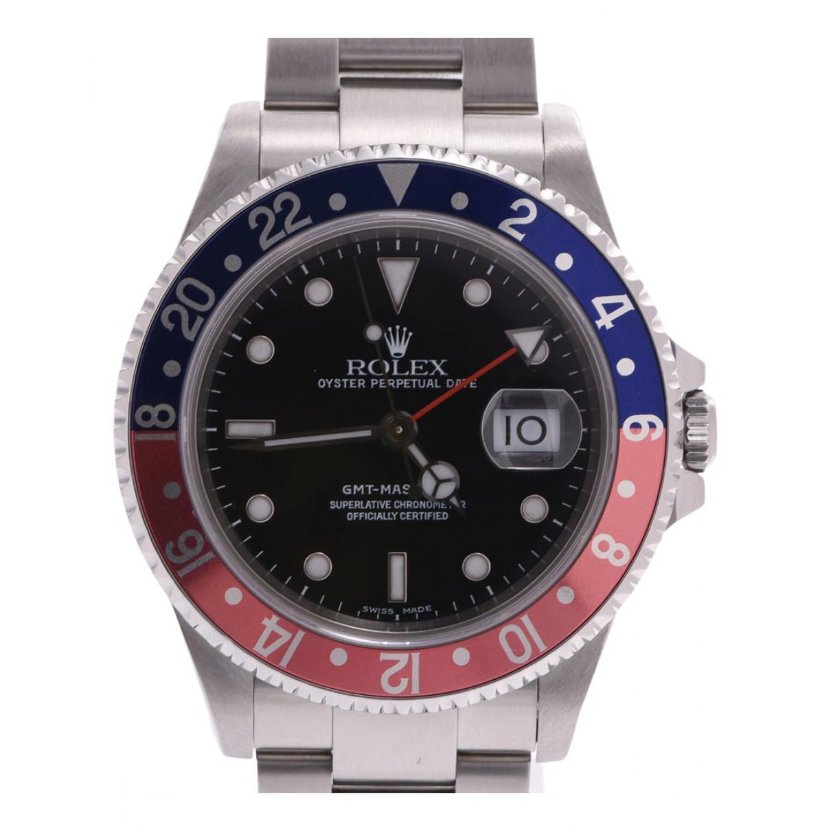 Rolex - Montre GMT Master pour homme en acier - noir
