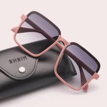 Square Acrylic Frame Sunglasses