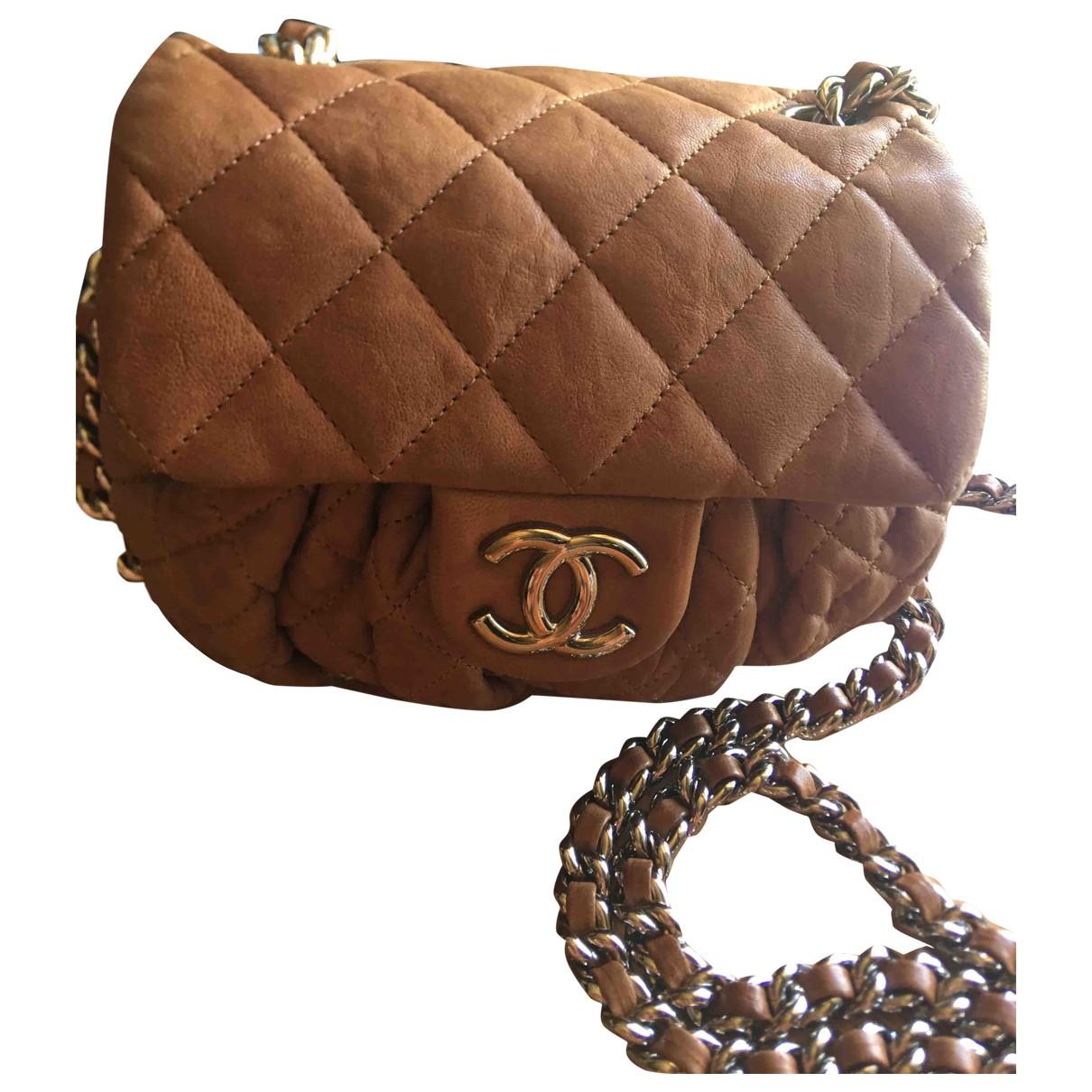 Chanel Chain Around Handtasche in  Kamel Leder