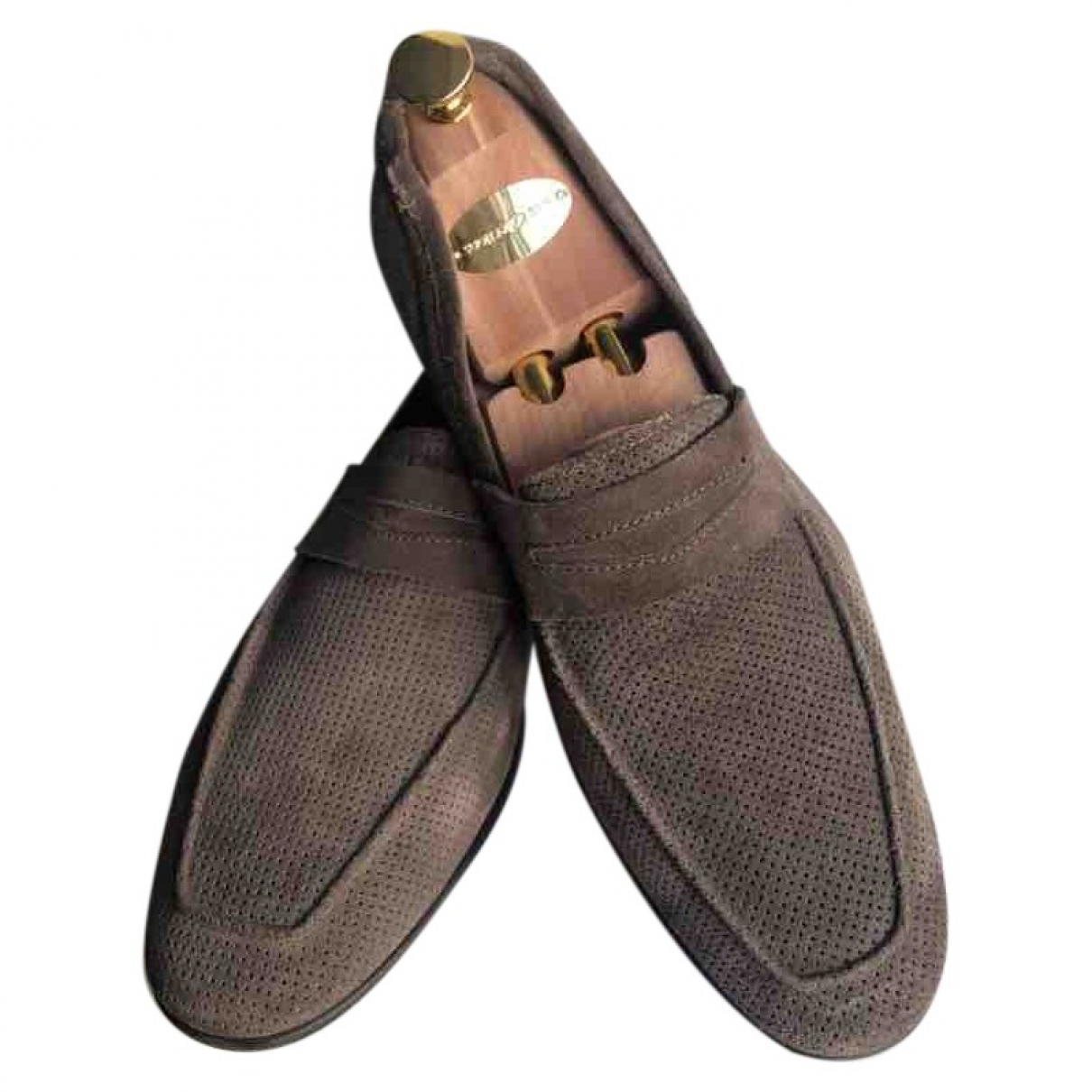 Daniele Alessandrini \N Grey Leather Flats for Men 40 EU