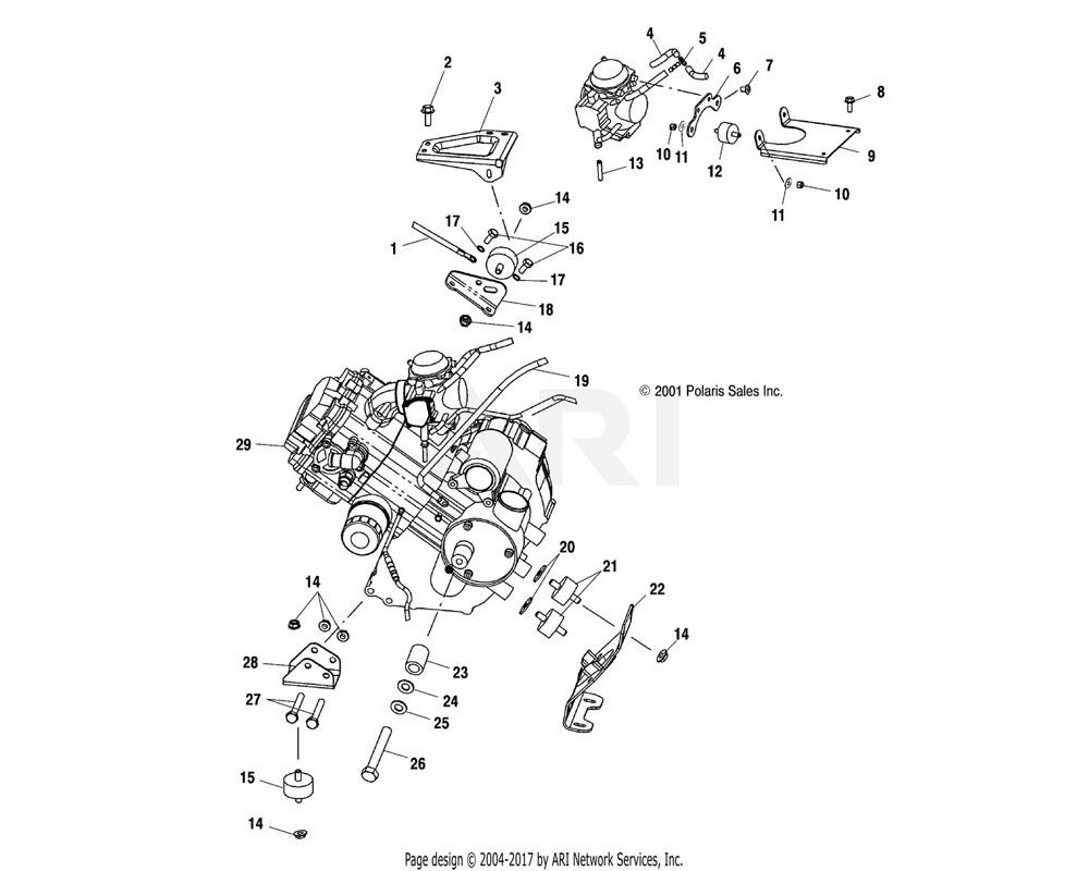 Polaris OEM 5245206 Bracket, Carburetor Dampner