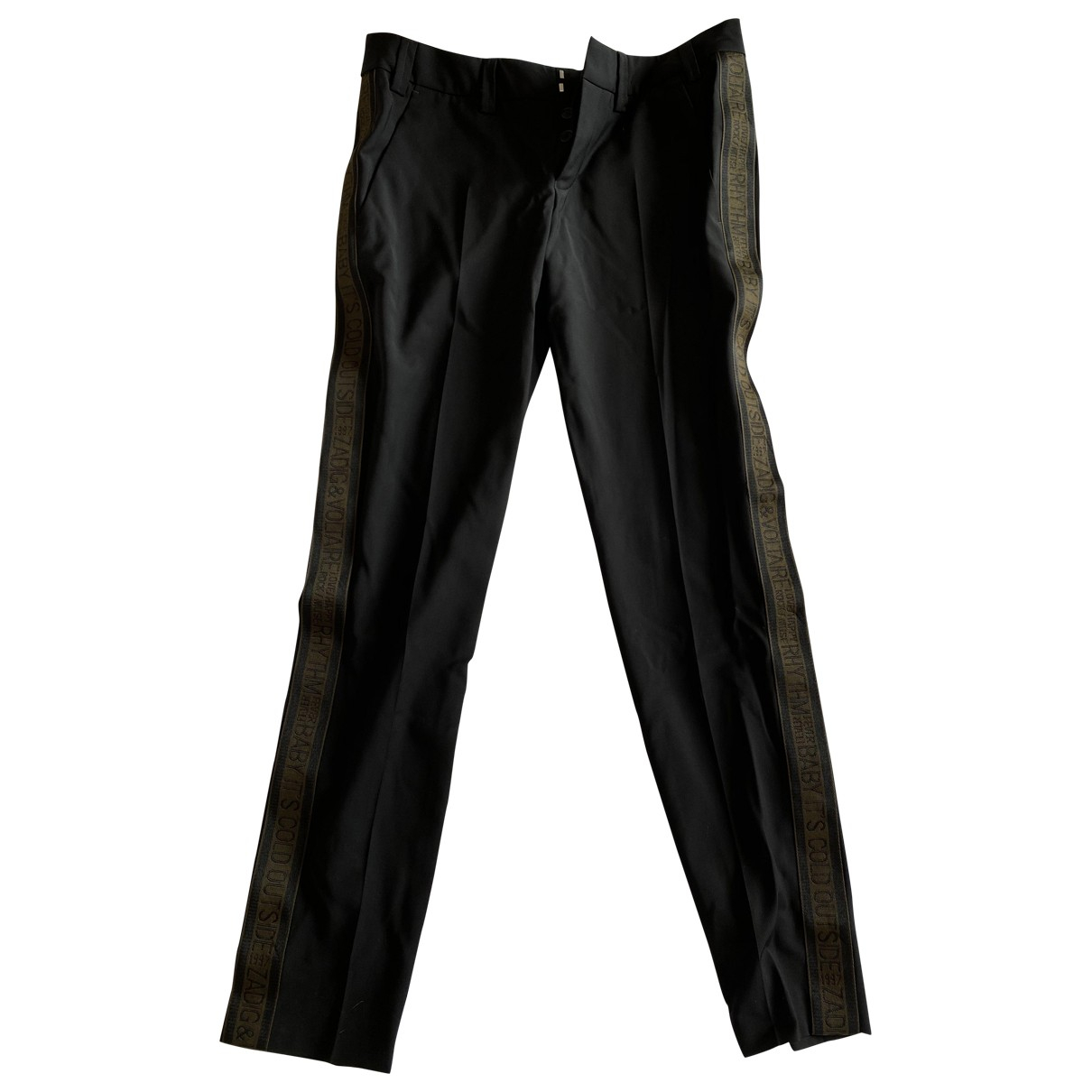 Zadig & Voltaire \N Black Wool Trousers for Women 40 FR