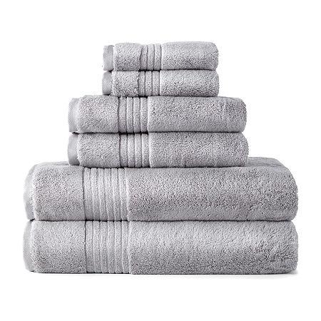 Liz Claiborne Signature Plush Bath Towel Collection, One Size , Gray