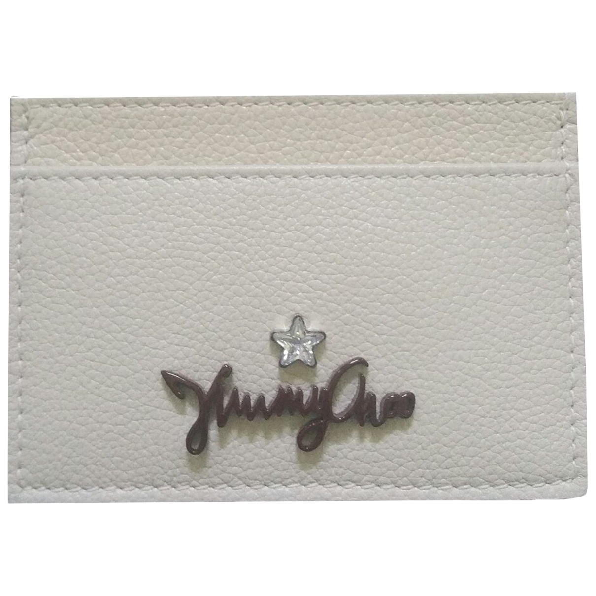 Jimmy Choo \N Ecru Leather Purses, wallet & cases for Women \N