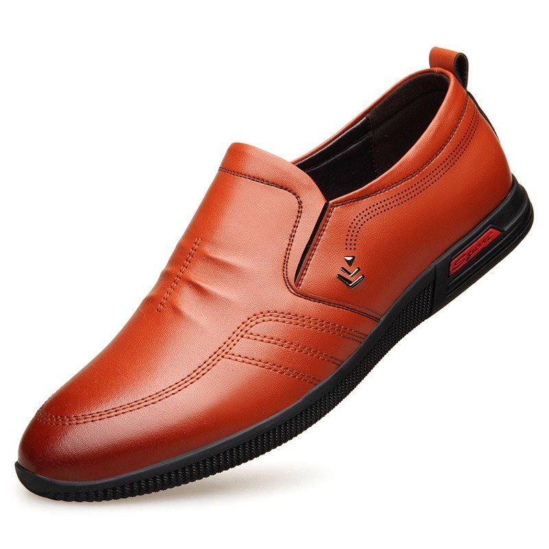 Men Microfiber Leather Comfy Soft Slip On Casual Driving Loafers