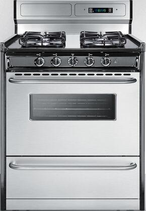 TTM23027BKSW 30 Gas Range with 4 Sealed Burners  3.7 cu. ft. Oven Capacity  Porcelain Cooktop  Broiler Compartment  Digital Clock and Timer  in