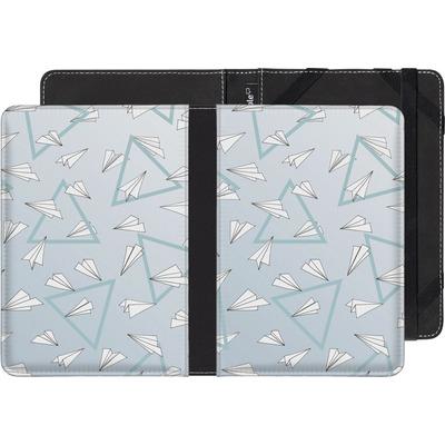 Pocketbook Touch Lux 2 eBook Reader Huelle - Paper Planes Blue von Barlena