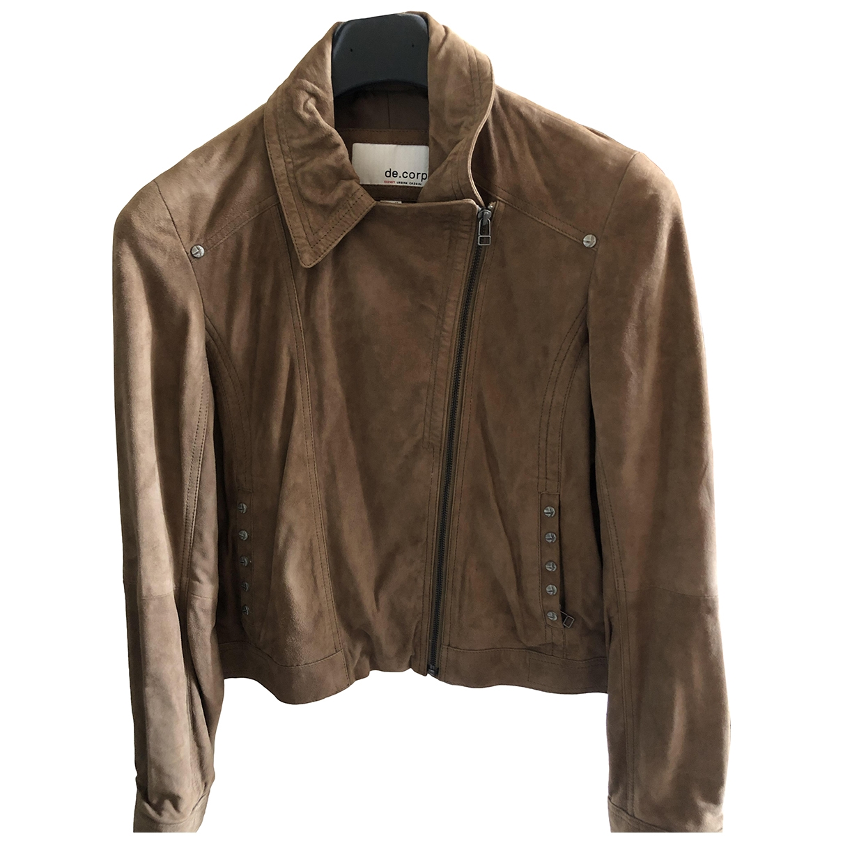 Non Signé / Unsigned \N Brown Suede jacket for Women 42 IT