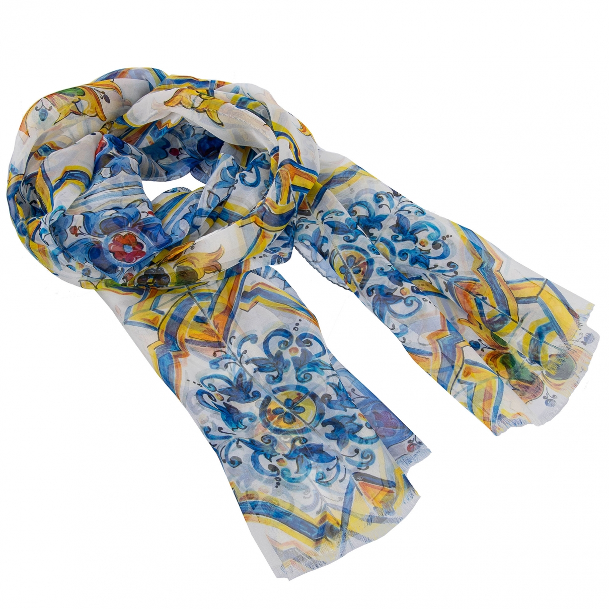 Dolce & Gabbana \N Schal in  Blau Seide