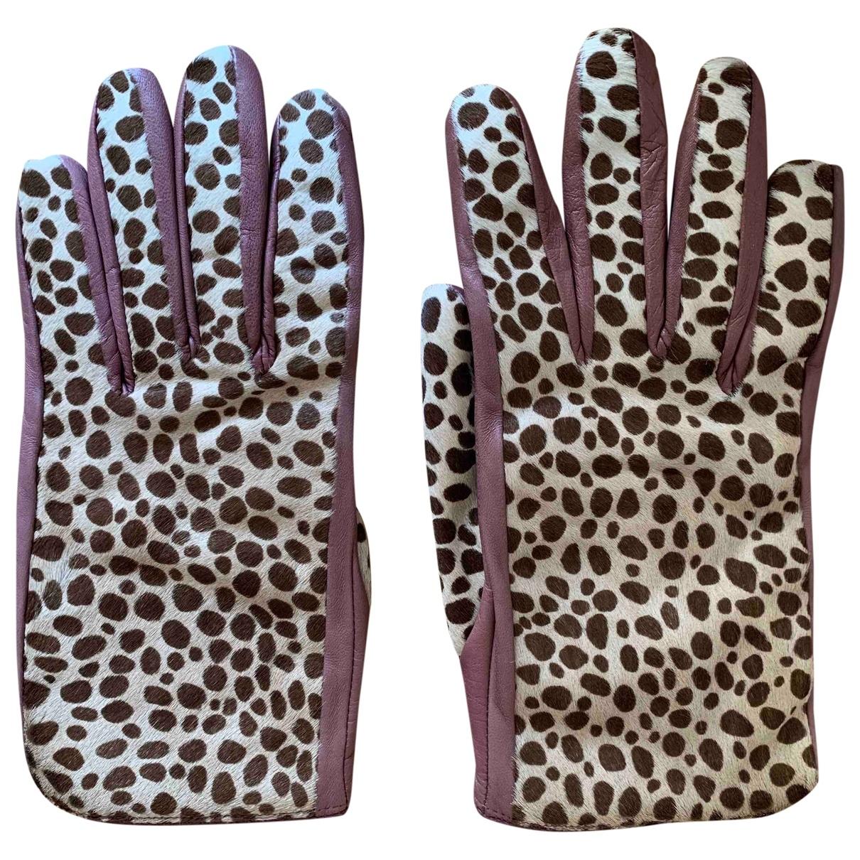 Furla \N Handschuhe in  Rosa Leder