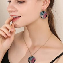 3pcs Flower Pattern Jewelry Set