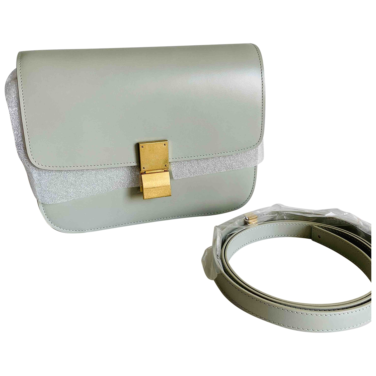 Celine \N Leather handbag for Women \N