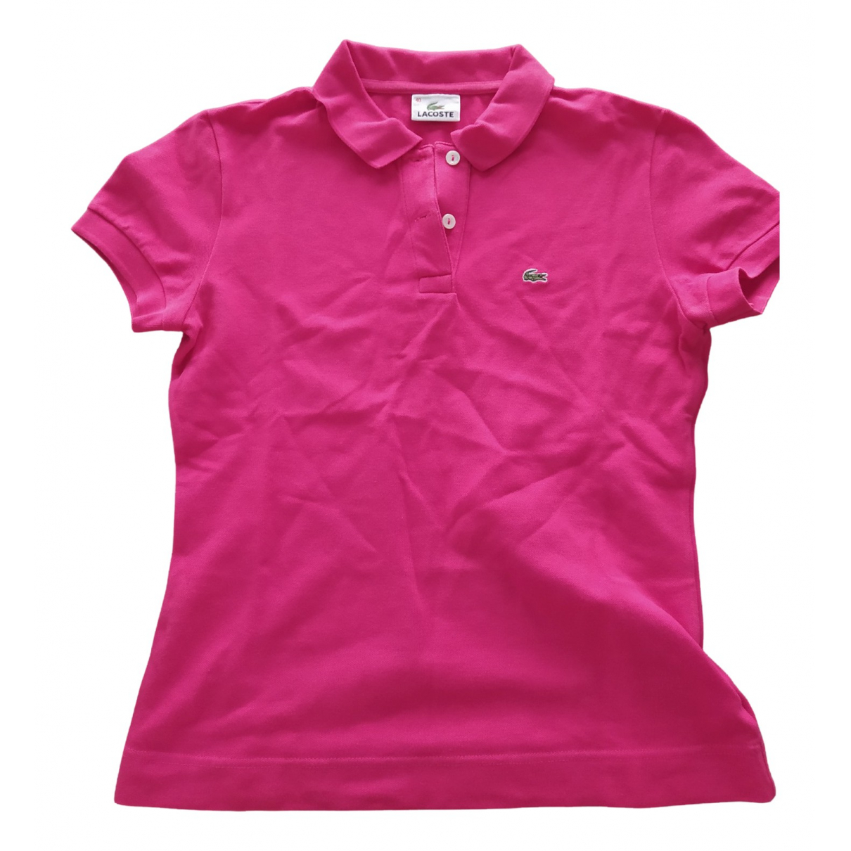 Lacoste N Pink Cotton  top for Women 40 FR