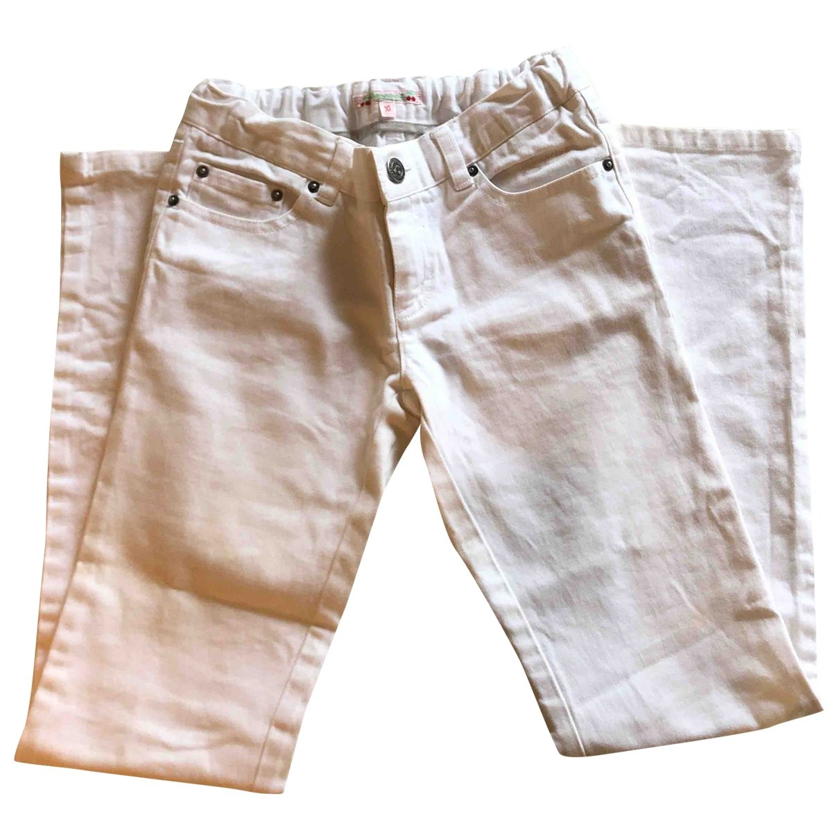 Bonpoint \N White Denim - Jeans Trousers for Kids 10 years - up to 142cm FR