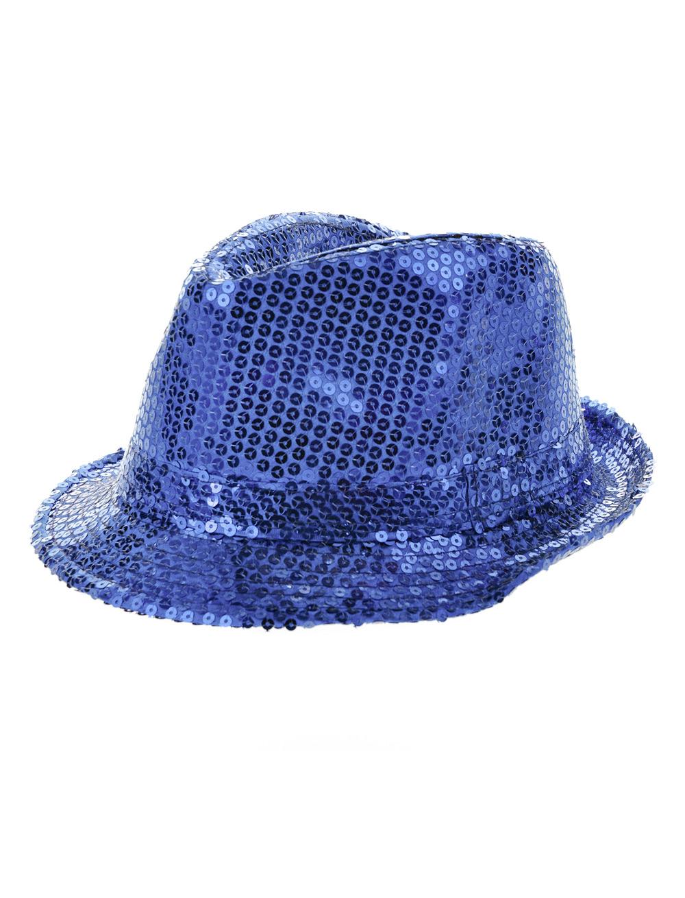 Kostuemzubehor Hut Pailletten blau