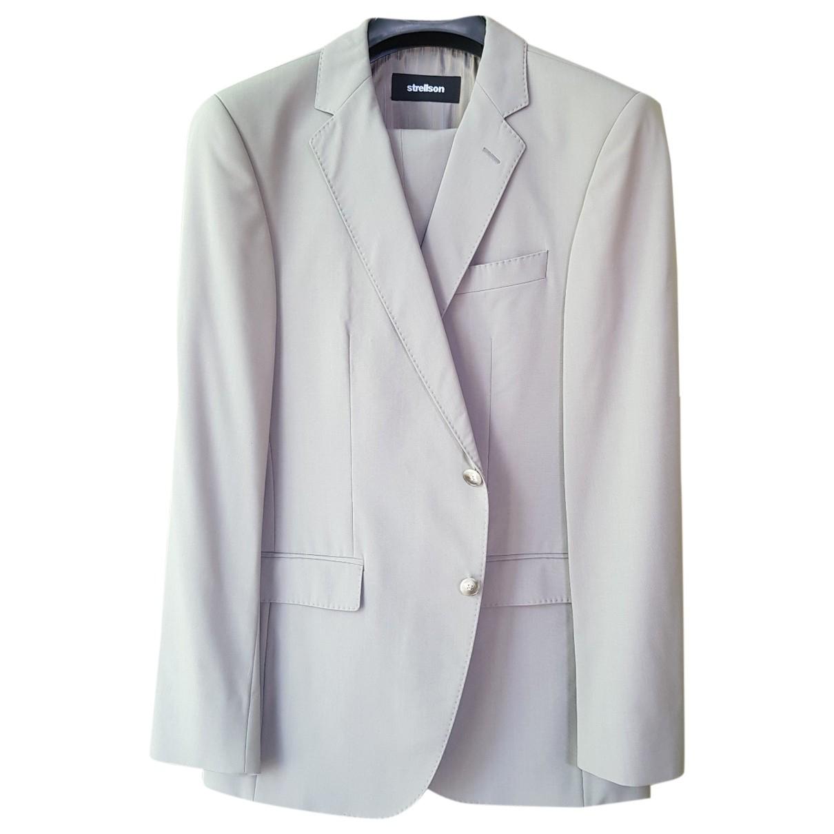 Strellson - Costumes   pour homme en laine - beige