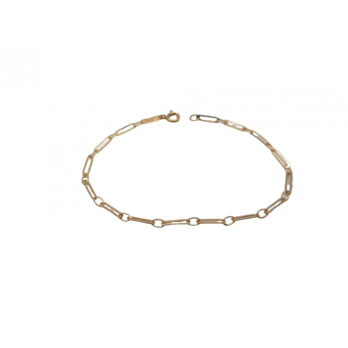 - Bracelet Gourmette pour femme en or jaune - jaune