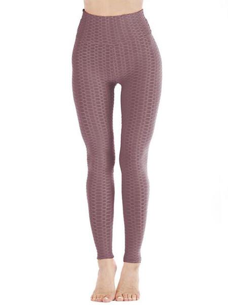 Milanoo Leggings For Women Cozy Polyester Stretch Elastic Waist Skinny Women\'s Leggings