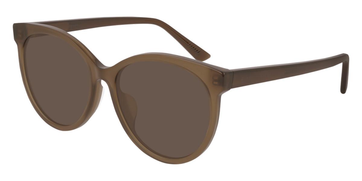 Bottega Veneta BV1022SK Asian Fit 004 Women's Sunglasses Brown Size 55
